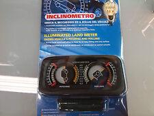 Inclinometro indicatore beccheggio e rollio illuminato 12 V 4x4 fuoristrada