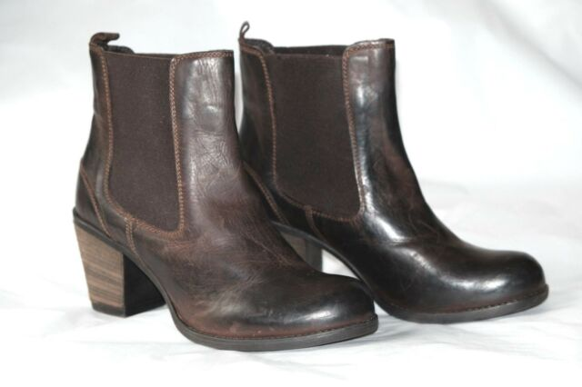 Clarks African Ice Dark Brown Leather Ladies ankle boots 4/37, 6/39 D RRP £90