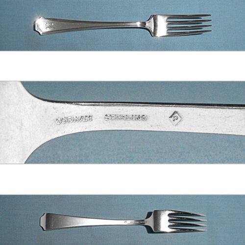 "GORHAM STERLING 7 1//2/"" PLACE FORK ~ FAIRFAX ~ MONO E S"