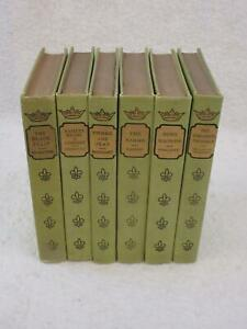 Lot of 6 FRENCH CLASSICAL ROMANCES P.F. Collier Decorative Bindings