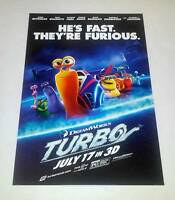 Dreamworks Turbo Movie Poster Mini One Sheet Ryan Reynolds Snoop Dogg