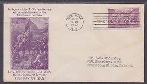 US-Planty-795-42-FDC-1937-3c-Ordinance-of-1787-J-W-Clifford-Cachet