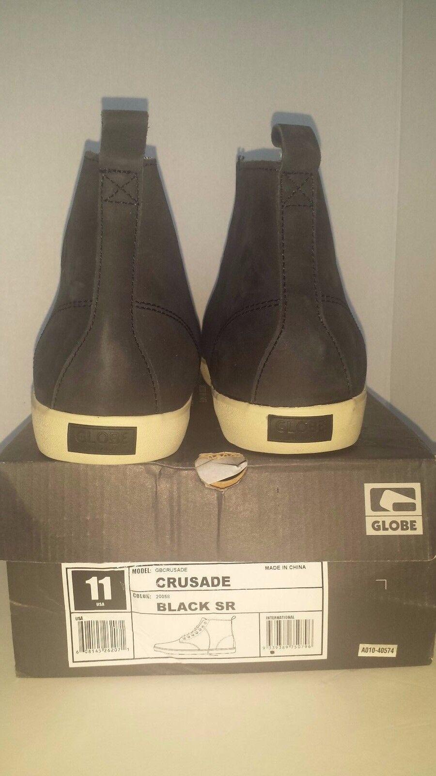Globe Skater Crusade Skater Globe Sneaker Black SR Sz 11 be90ce