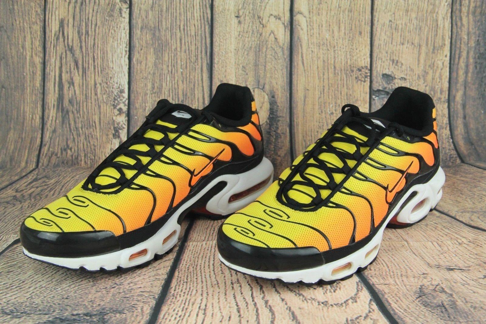 RARE Nike Air Max Plus TXT TN Sunset Retro Tour Yellow Orange 647315-700 SZ 12