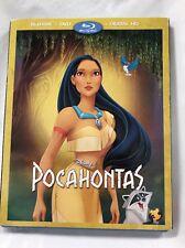 Pocahontas Disney Brand New Blu-ray, DVD, & Digital HD W/ SLIPCOVER! Walt Disney