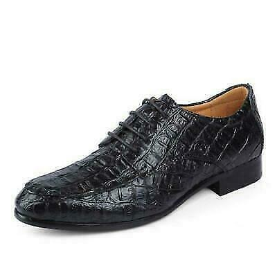 Mens Formal Crocodile Pattern Real Leather Shoes Wedding Party Dress Plus Size