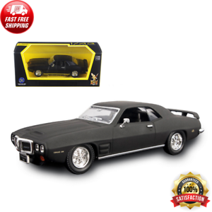 1969 Pontiac Firebird Trans Am Matt Black 1/43 Modello Pressofuso Auto Road Signature
