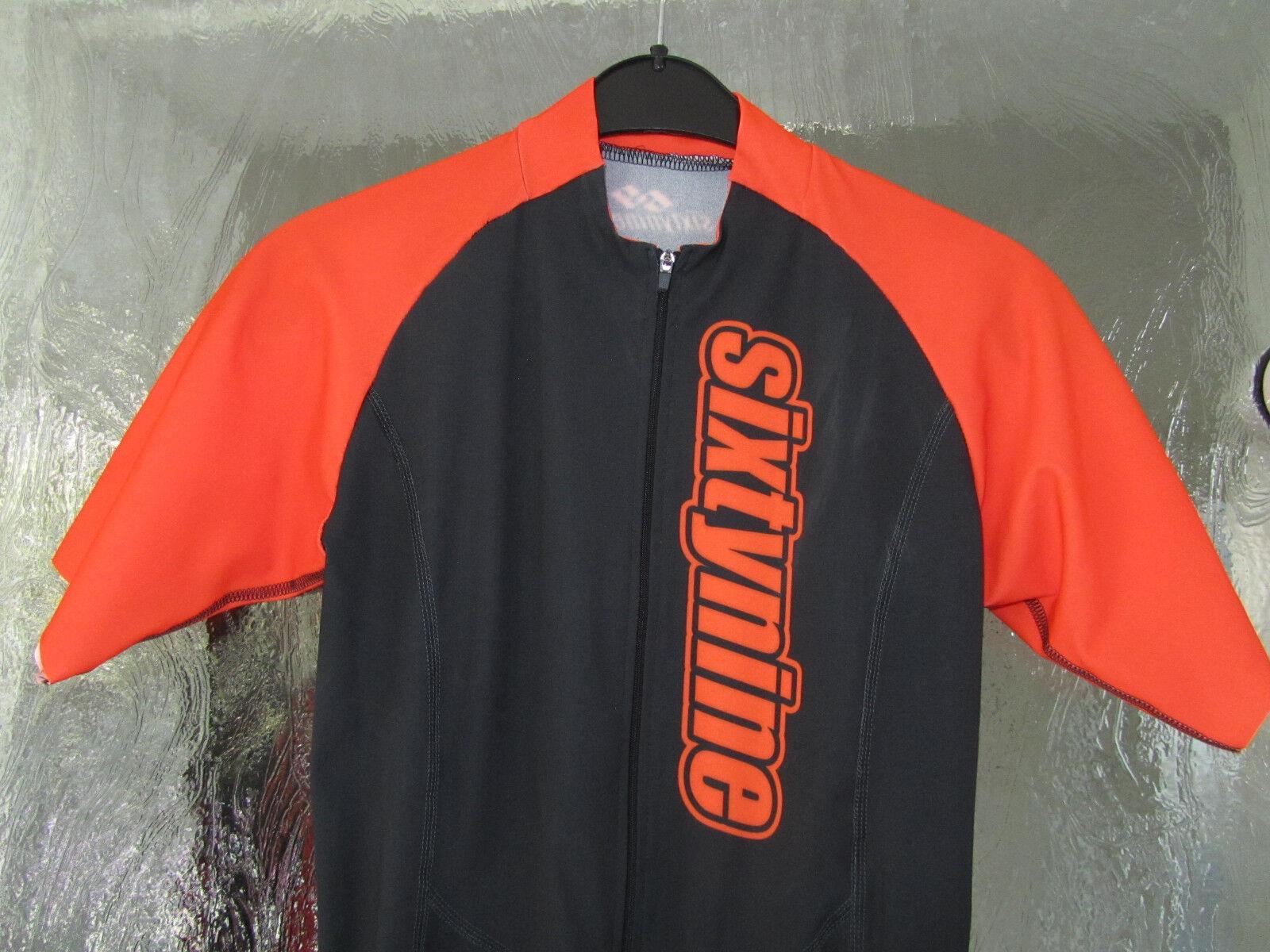 Triathlon-Anzug von sixtynine Herren Größe S Einteiler schwarz-Orange