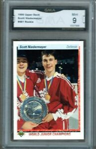GMA-9-Mint-SCOTT-NIEDERMAYER-1990-91-UD-Upper-Deck-WJC-World-Juniors-ROOKIE