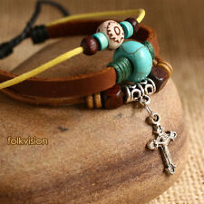Provided 10 Pcs Wholesale Tribal Surfer Handmade Leather Hemp Bracelet Lb168 Jewelry & Watches