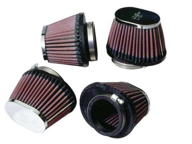 "RC-0984 K&N Universal Chrome Air Filter 2-1/8""FLG,4"" X 3""B, 3"" X 2""T, 2-3/4""H (4"