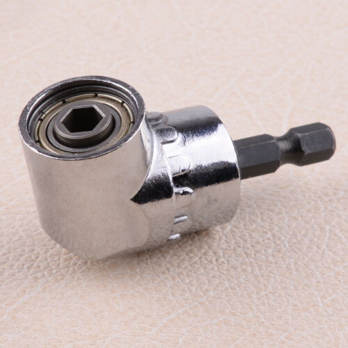 105 Degree Angle 1//4 inch Hex Screwdriver Drill Bits Holder Adapter
