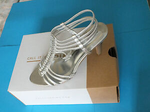 Women-039-s-High-Heel-Silver-Summer-Sandals-Call-it-Spring-48-00-New-Free-P-amp-P