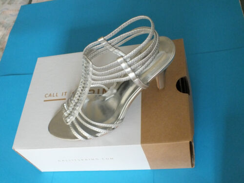 gratis Spring Tacco donna P Call Silver 48 Sandali Nuovo alto da 00 It P n0SZx