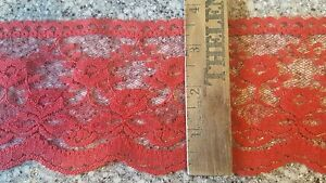 24 Yard spool red 3 3/4 Inch In Wide Wedding Lace NEW