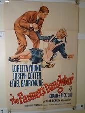 1947 THE FARMER'S DAUGHTER 1SHT- ROMANTIC COMEDY - NICE