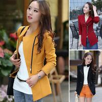 New Women Long Sleeve Slim Casual Business Blazer Suit Jacket Coat Outwear S-2XL