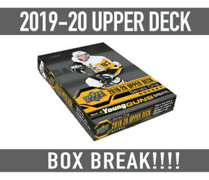 BOX-BREAK-19-20-Upper-Deck-Hockey-SERIES-1-BOX-BREAK-Random-Teams-Free-Shipping