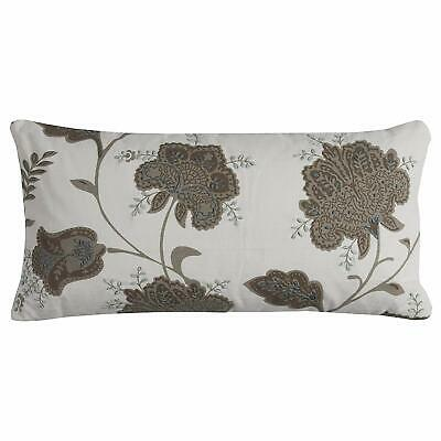 Rizzy Home One Of A Kind Fl Decorative Pillow Ivory 11 X21 844353659719 Ebay