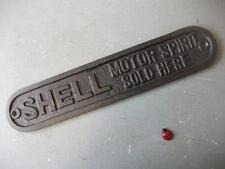 Shell Sign MOTOR SPIRIT SOLD HERE  ~ CAST IRON ~  PLAQUE ~ car / garage