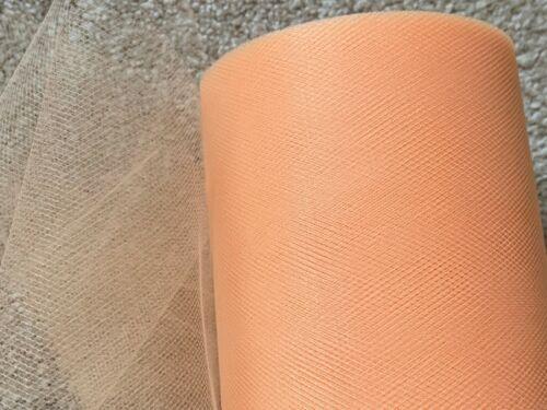 20m de 150mm de ancho de nylon suave tela durazno Tul Malla Boda//Tutú//Crafts
