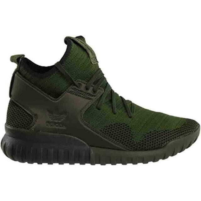 Buy adidas Tubular X Primeknit Shoes Men s Green Night Cargo   Core ... 683b206b6e