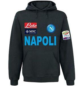 the latest f2781 3e8ed FELPA NAPOLI NERA CALCIO serie A ITALIA BLACK MAGLIETTA POLO ...
