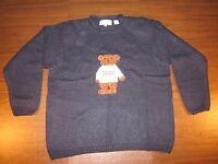 Marisa Christina 2000 Christmas Sweater Navy Blue With Teddy Bear 1x
