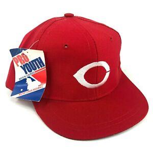 Vintage-Nwt-Cincinnati-Rojo-Edswest-Siglos-3-a-6-Gorra-Plana-Rojo-Blanco-Logo
