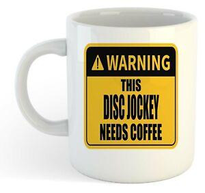 Warning-Esta-Disco-Jockey-Necesita-Cafe-Blanco-Taza-Regalo-Trabajo-Regalo