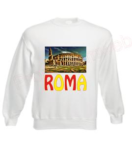 Maillot Sweatshirt Vintage De Roma Mode Bj Style Blanc tdxhsBQrC