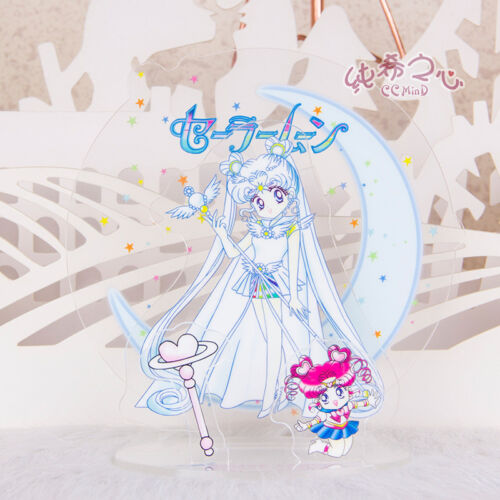 Figure Phone holder Acrylic Sailor Moon 20th Anniversary Decoration Gift New