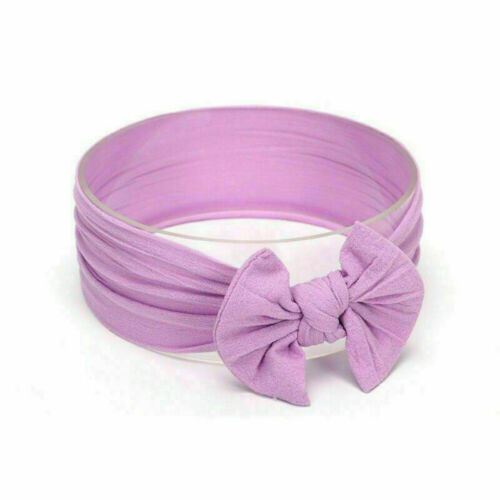 Baby Girls Rabbit Bows Kids Turban Knot Bunny Headband Bow Hair Head bands UK