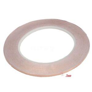 F48-2m-Kupferband-3-mm-selbstklebend-Abschirmband-Kupferfolie