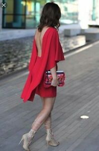 SOLD-OUT-ZARA-RED-FUCHSIA-PINK-CAPE-DRESS-7586-750-BLOGGERS-SIZE-S-SMALL-UK-8