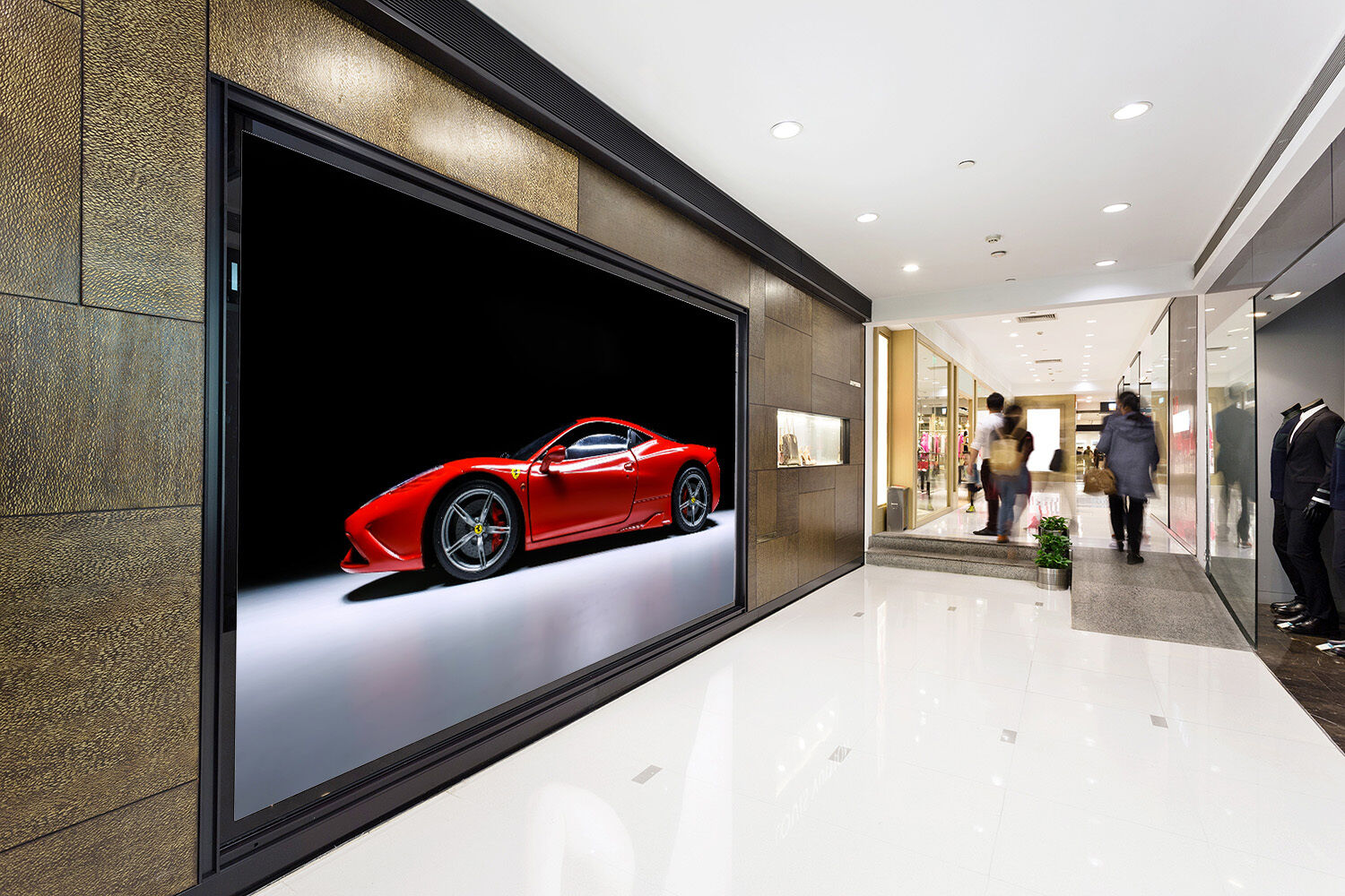 3D Luxury car poster Ferrari Wall Paper Print Decal Wall Deco Indoor wall Mural