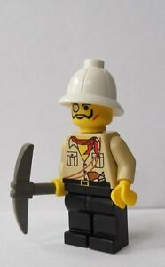 1aef6cd91c013 Image is loading LEGO-Minifig-Adventurers-Gold-Diamond-Prospector-with-Pith-