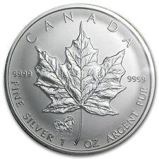 2002 1 oz Silver Canadian Maple Leaf Coin - Lunar Horse Privy - SKU #13036