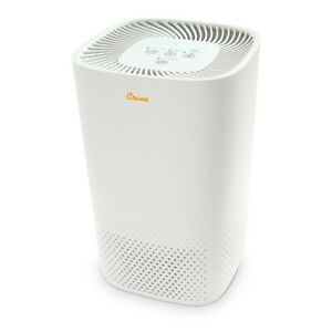 Crane Air Purifier with True HEPA Filter Germicidal UV Light 3 Speeds White