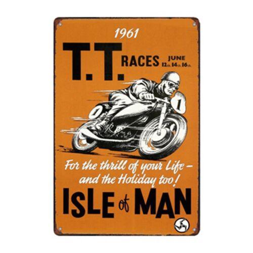 Metal Tin Sign Isle of Man TT Race Décor Bar Pub Accueil Rétro Vintage Poster