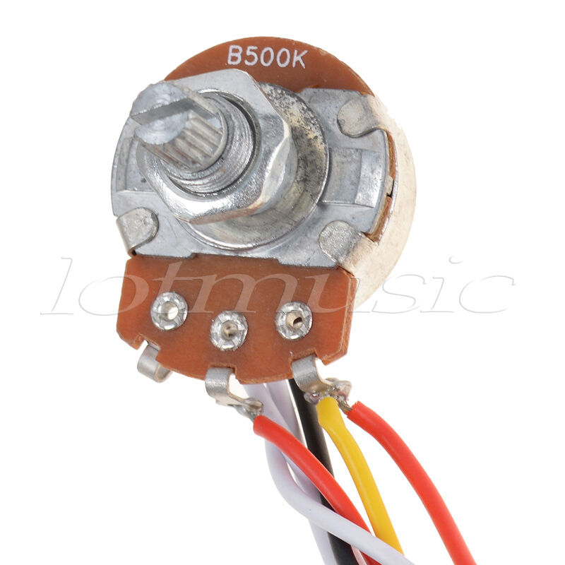 s l1600 3 pickup guitar wiring harness prewired with 500k pots 5 way 1 2 volume 1 tone wiring harness at gsmx.co