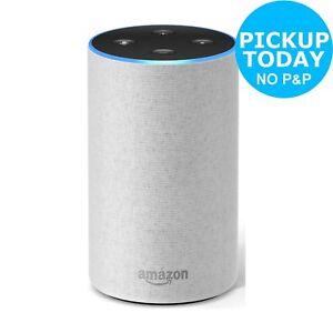Amazon Echo (2nd Generation) Wireless Alexa Speaker - Sandstone Fabric.