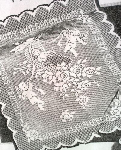 "409 Vintage Wheeler Filet /""LULLABY CRIB COVER/"" 1941 Pattern to Crochet Reprint"