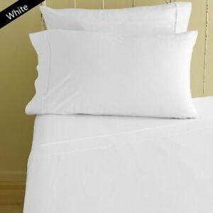 1000 TC Egyptian Cotton White Solid US Sizes Sheet Set//Duvet//Fitted//Flat Sheet