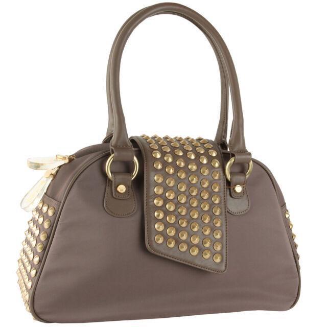 7ea74cedad Christian Audigier Gwen Bowler Handbag Black W Gold