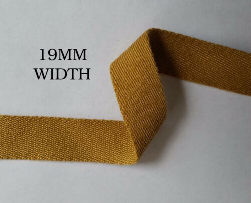 19,25,38,50mm Havey Kaki Coton Bande Sangle Tablier Bruant Sangle Sac