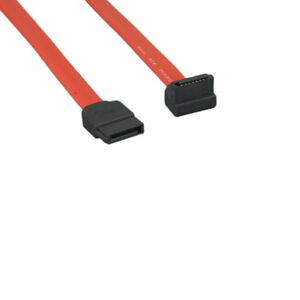 1.5-3 FT SATA Straight to Right-Angled Device Data Cable 26 AWG 7 Pin PC Mac HDD