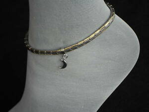 Stainless-Steel-Italian-Charm-Anklet-Silver-Moon-Ankle-Bracelets-Free-Shipping