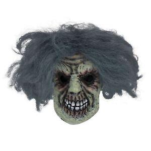 Horreur Homme Masque Avec Cheveux, Halloween, Robe Fantaisie-afficher Le Titre D'origine