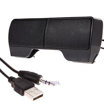 Mini Portable USB Stereo Speaker Sound bar for Laptop Notebook Desktop Cellphone